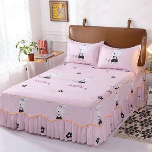 席梦思床裙式床套单件防尘防滑床罩