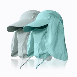 防尘帽工作帽男夏季披肩帽全脸防紫外线劳保帽夏天防风沙防晒面罩