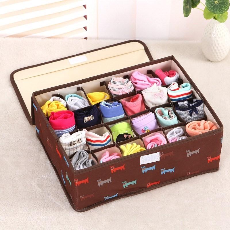 放短裤内衣袜子收纳盒箱衣柜寝室家庭装小型置物创意分隔盒储物盒