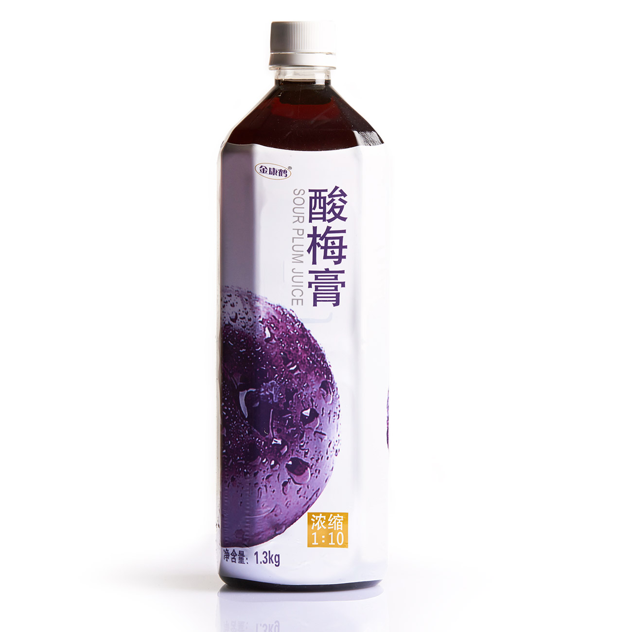 金康鶴酸梅膏1.3公斤X2瓶 濃縮酸梅湯汁1:10 烏梅汁酸梅膏原料