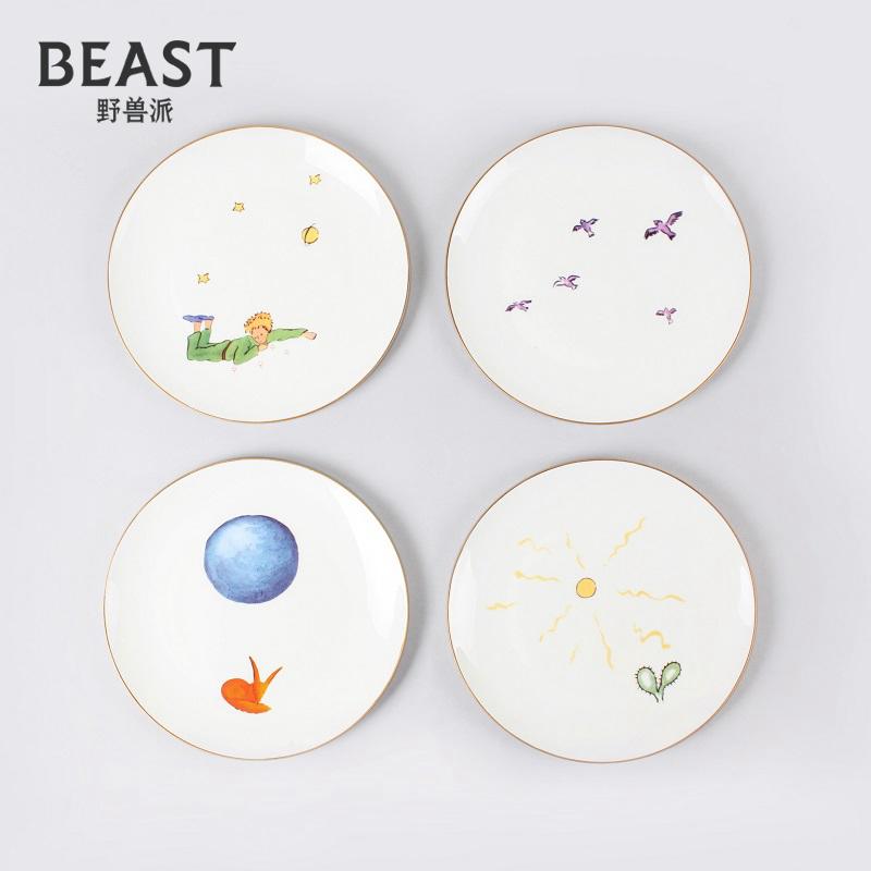 THEBEAST野兽派幸福小王子骨瓷餐盘4件西式餐具瓷器套装碗碟家用 Изображение 1
