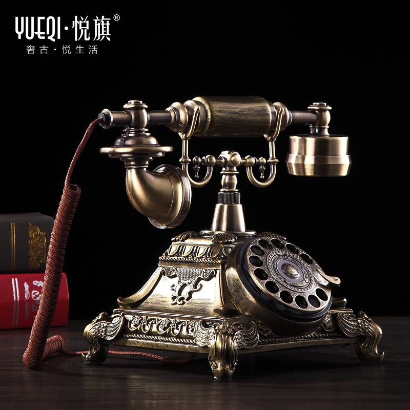 悦旗旋转盘仿古欧式老式电话机复古家用时尚创意有线电话机座机