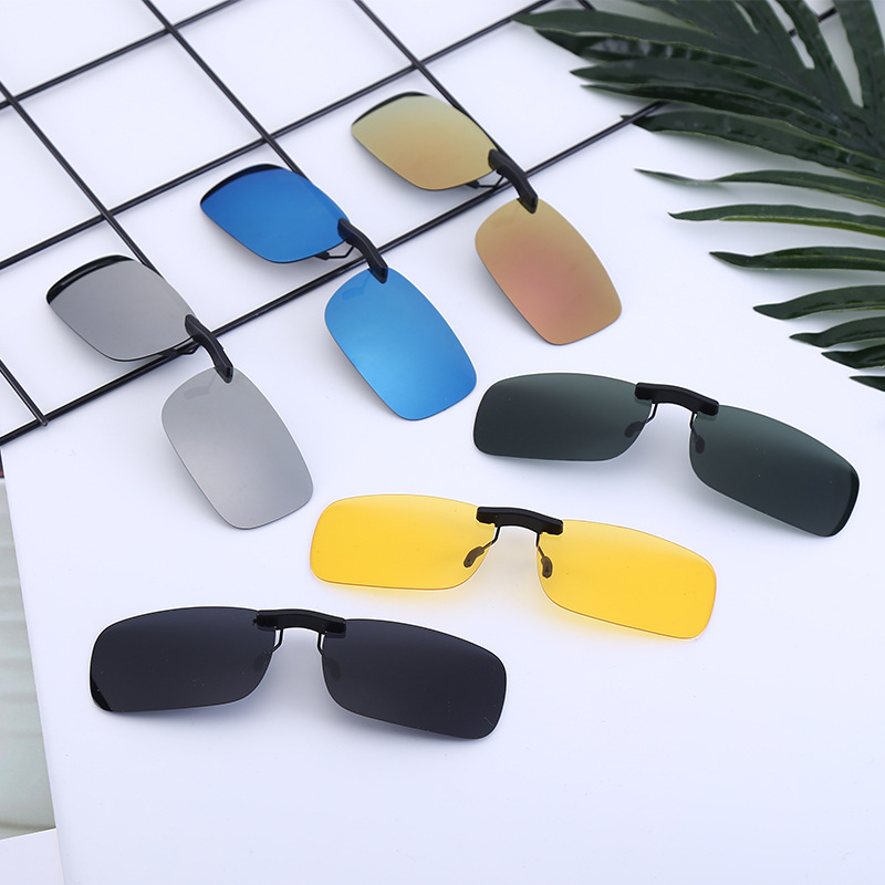 Small clip special clip for ultra light myopia polarized sunglasses metal plate frameless glasses for men and women