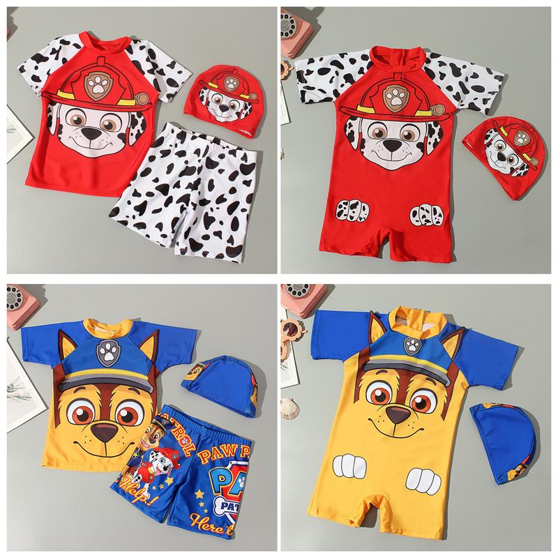 Wang Wang team boys split Boxer Shorts cartoon swimsuit primary and secondary school childrens quick drying professional childrens Beach swimsuit