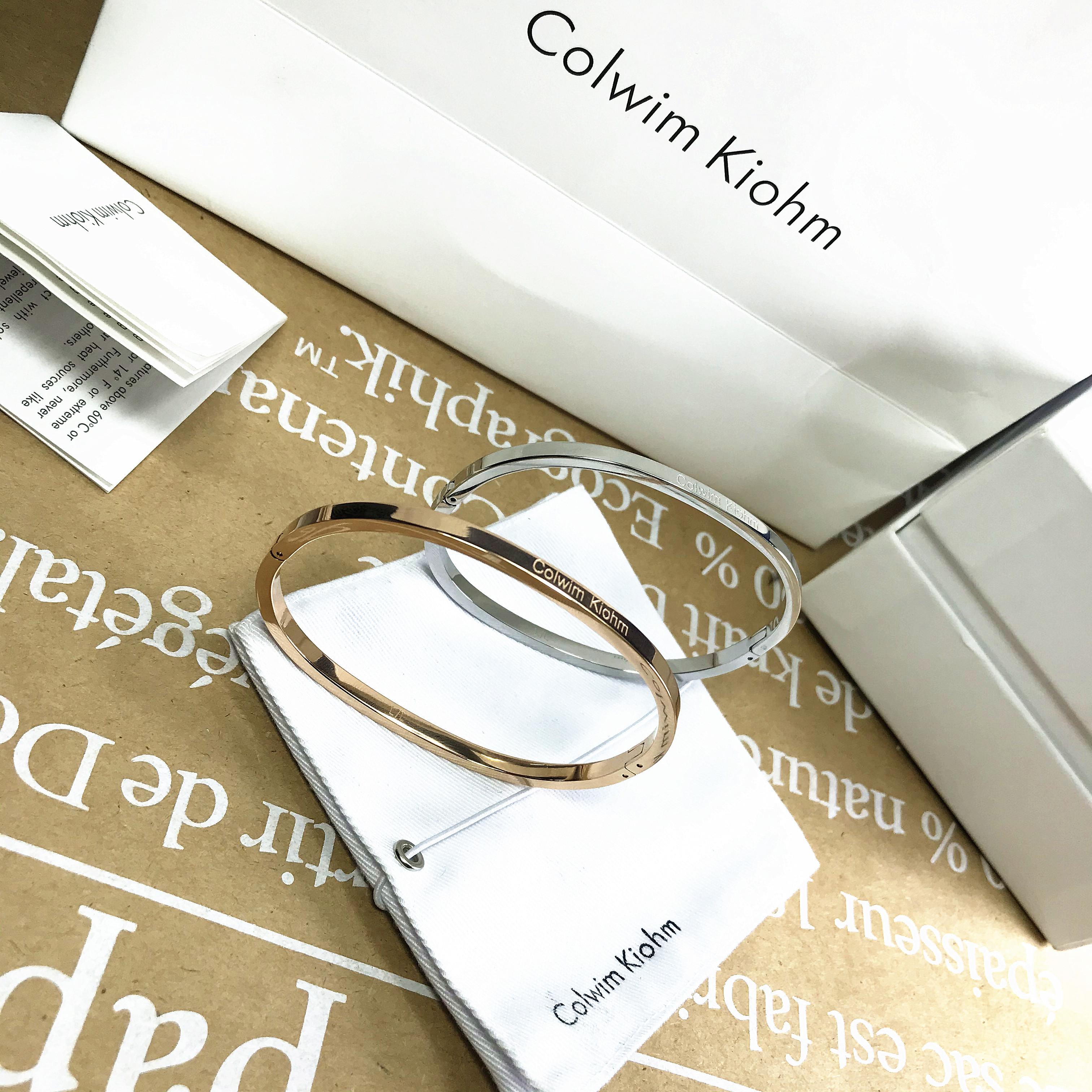 Colwim Kiohm简约手链小ck男女情侣款手镯时尚手环情人节学生礼物图片