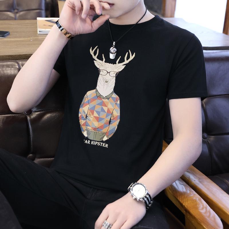 纯棉短袖男夏季韩版潮流男士T恤