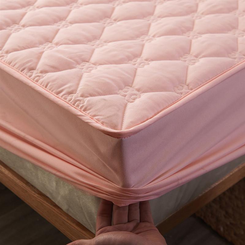 纯棉床笠单件全棉夹棉加厚床罩席梦思保护套防滑固定全包防尘罩套