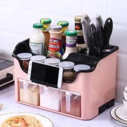 厨房调料盒组合套装多功能调味品味精盐罐调料瓶家用收纳盒置物架