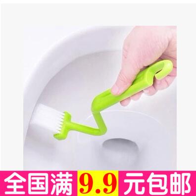 Домашний туалет туалет щетки держатель Туалет Творческая изогнутая ручка длинная ручка чистящая щетка V-образный туалет сторона Мертвая кисть