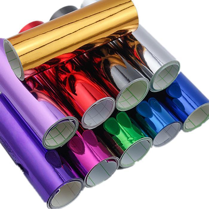汽车电镀改色膜全车贴车顶膜车身镀铬拉花饰彩条反光镜面贴膜纸