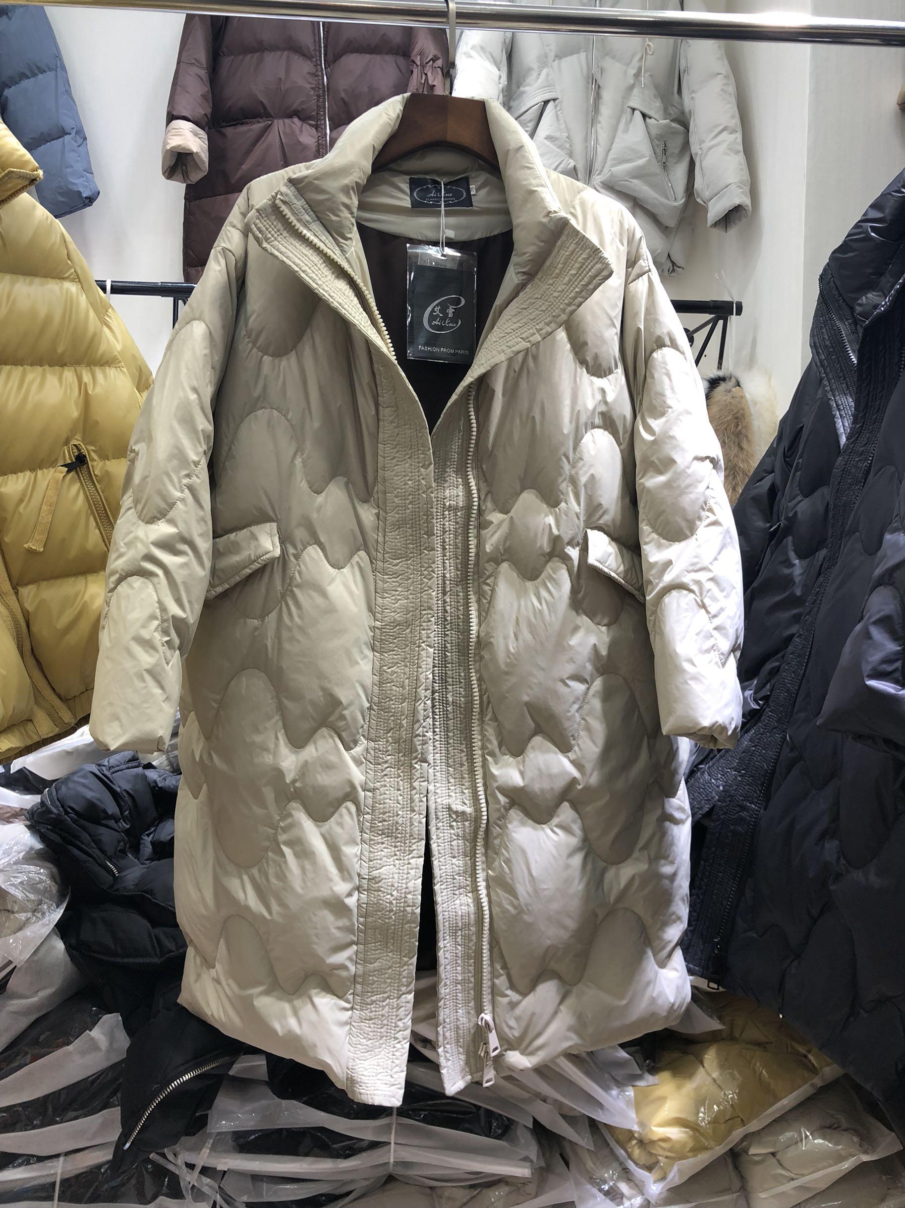 2018冬季新款女装韩版时尚中长款羽绒服轻薄保暖宽松外套艾雪808