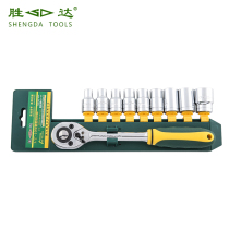 Shengda Tool Plastic Clamp sleeve set ratchet sleeve wrench quick wrench sleeve Head tool combination