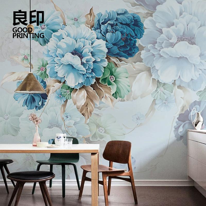 良印美式定制壁纸卧室客厅无纺布墙纸温馨韩式背景墙无缝墙布壁画