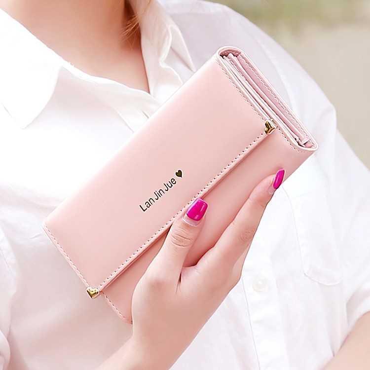 Womens Long Wallet 2019 new womens Long Wallet love large capacity 30% off womens long card bag mobile phone bag