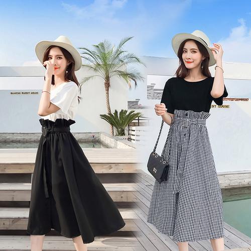 夏季哺乳期上衣服夏装外出时尚t恤夏天潮妈产后裙子时髦喂奶套装
