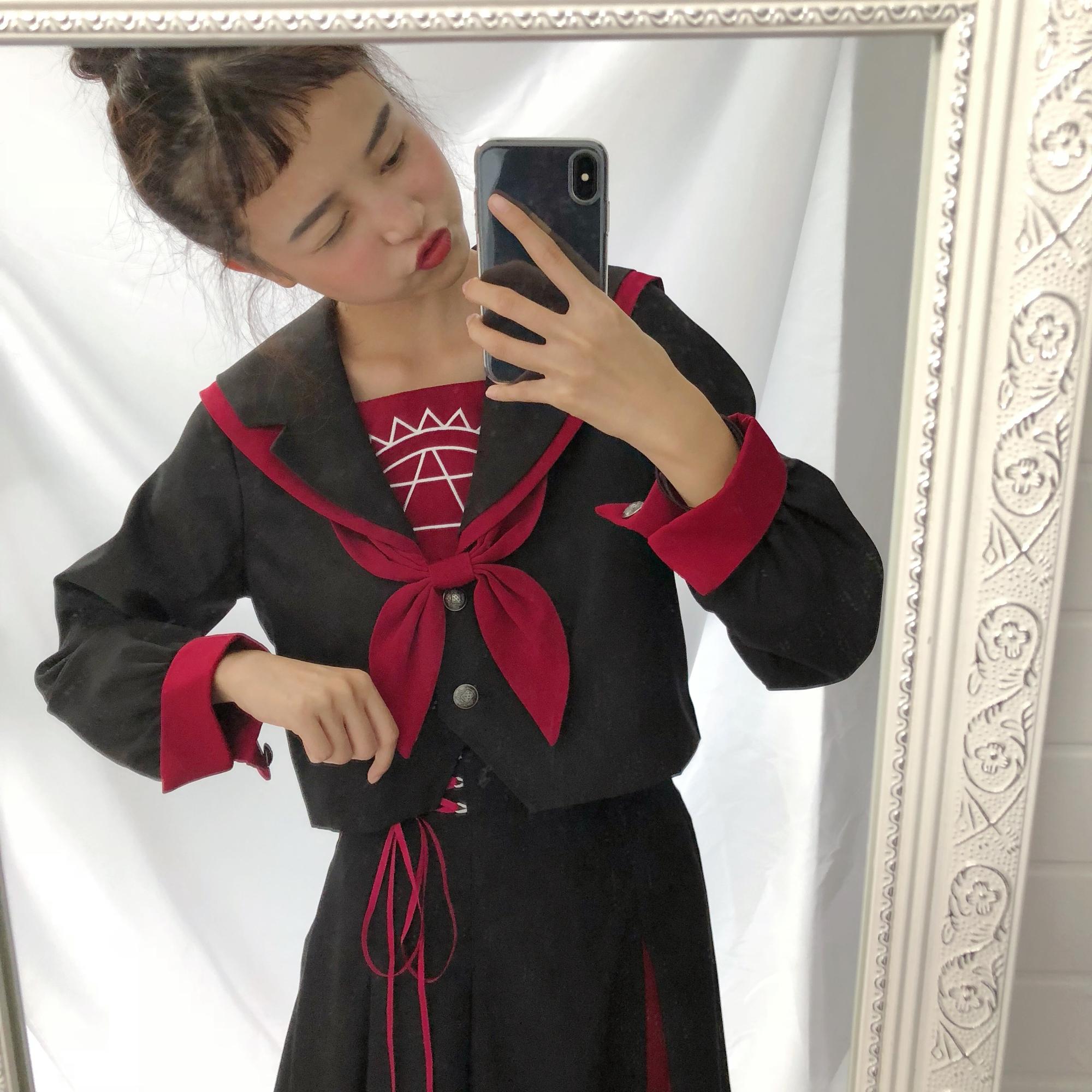 日系水手服魔法阵软妹中间服夏季短袖JK制服女学生班服学院风套装