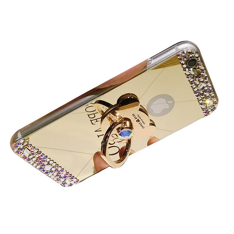 小米max手機殼指環扣紅米note3掛繩鑲鑽鏡麵女款矽膠手機殼女