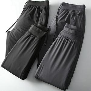深八度冬季新品棉裤加厚外穿羽绒棉保暖裤抽绳小脚裤男装大码棉裤