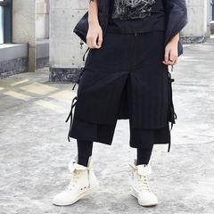 原创设计 暗黑 山本耀司风尼克大叔同款羽绒裤休闲九分裤X068P160