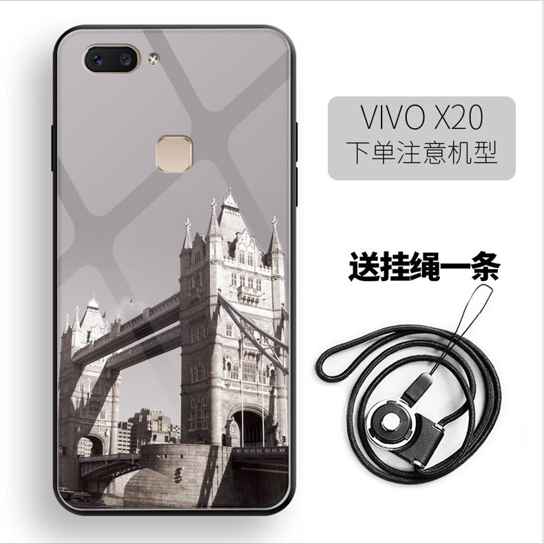 VIVOX20手机壳铁塔VIVOX20plus钢化玻璃彩壳女款超薄外壳创意套潮