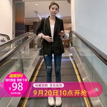 宽松百搭休闲韩国黑色西服上衣 韩版 网红小西装 外套女2019春秋新款