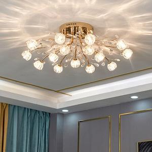 2021年新款轻奢客厅大灯水晶吸顶灯
