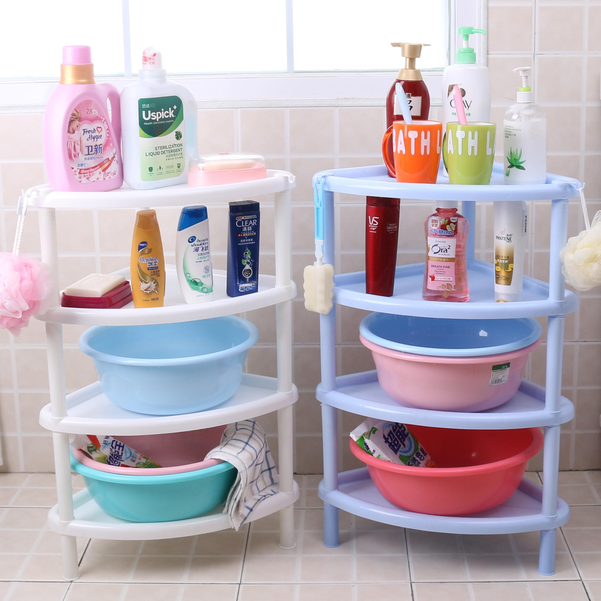 Большая ванная комната ванная полка умывальник подставка штатив пластик пол умывальник кухня хранения угловая рама