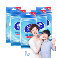 Vida wet wipes adult wet wipes 10 packs 100 pieces Portable single-chip independent packaging mild and fragrance-free dj