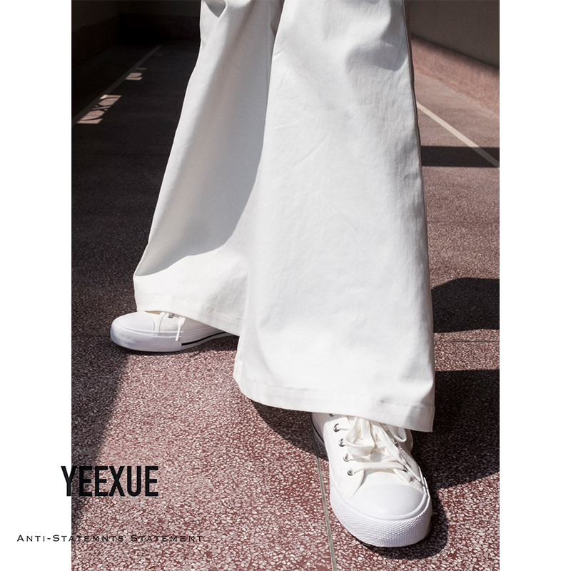 Yeexue bell-bottom / original autumn / winter classic retro trend high waist and big a-hem floor bottom flared pants