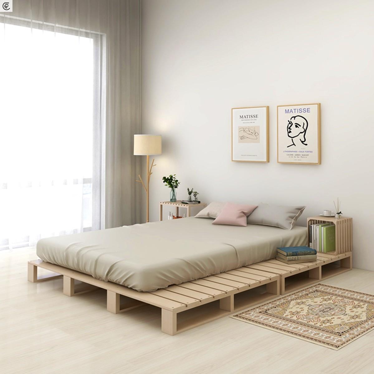 实木床ins简易床板民宿排骨架床架