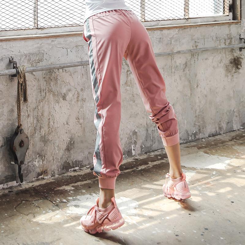 夏季户外透气运动裤女宽松健身裤网红速干跑步高腰薄款瑜伽裤大码