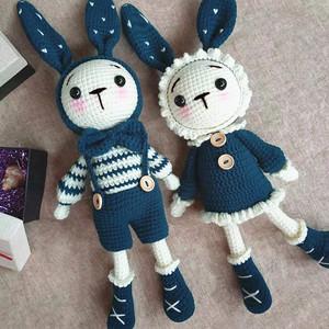 diy手工制作精灵兔毛线玩偶材料包