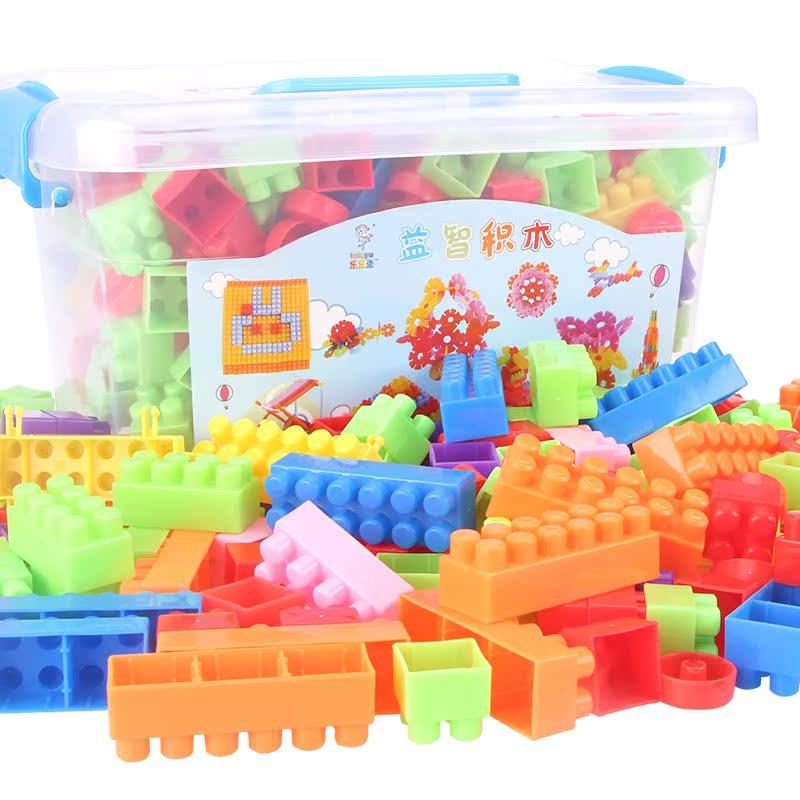 嬰兒塑料積木玩具1~2周歲兒童益智寶寶小男孩女孩大顆粒拚插3~6歲