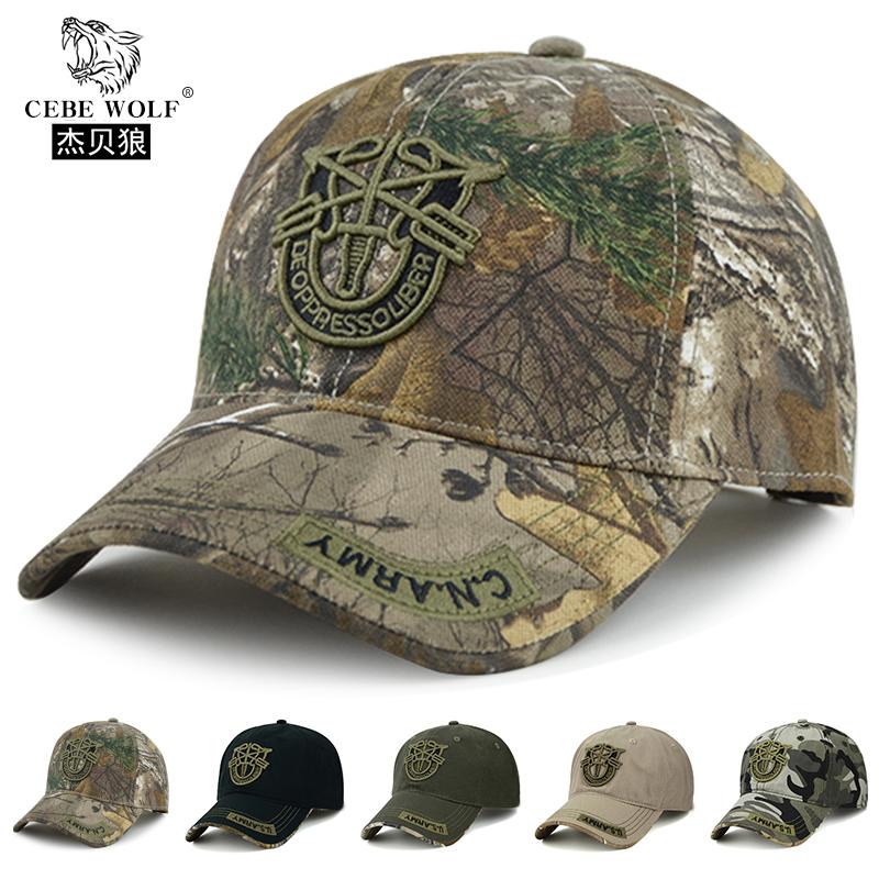 Baseball cap mens Camouflage Military cap cap cap in spring and Autumn