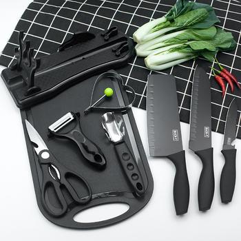 德国黑钢厨房不锈钢刀具套装水果刀