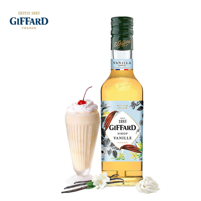 Jifade Giffard vanilla flavor syrup small bottle French coffee milk tea beverage cocktail promotion