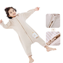 Children sleeping bag spring and autumn thin cotton baby sleeping kick-proof quilt four seasons legged air conditioning by children in spring, summer and summer