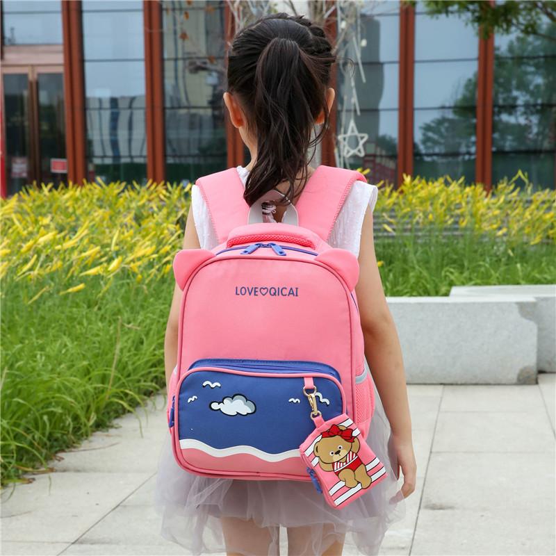 热销18件有赠品韩版书包卡通旅行儿童幼儿园中大班书包防水旅游男女孩子双肩书包