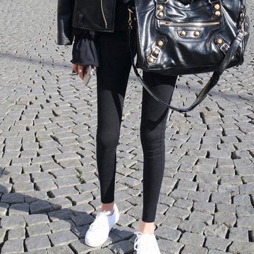 2018新款魔术打底裤女裤秋冬紧身外穿黑色加绒牛仔小脚铅笔小黑裤