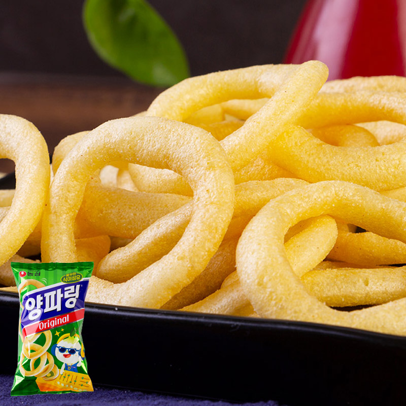 South Korea imported Nongxin original onion ring 84g snack puffed food potato chips