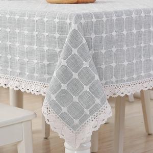 桌布布艺棉麻正方形餐桌布家用亚麻简约北欧方桌茶几布台布长方形