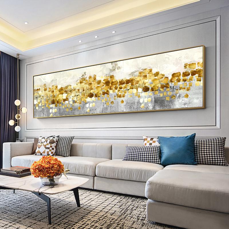 抽象油画手绘北欧风格客厅沙发背景墙装饰画现代卧室床头挂画定制