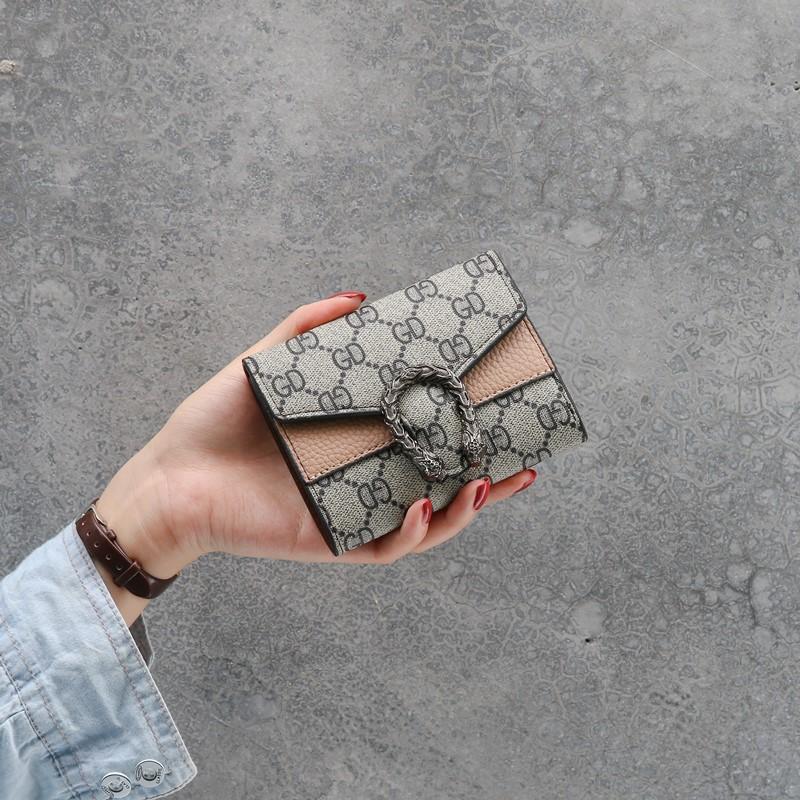 Wallet womens short 2020 fashion foldable Mini CK card bag