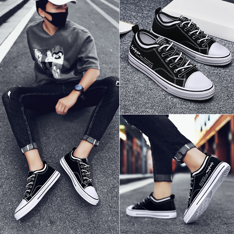 Summer new style Huili mens shoes Korean low top casual couple Fashion Shoes Boys students canvas shoes youth board shoes