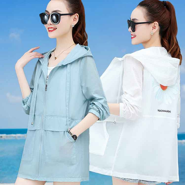 Summer sunscreen womens anti UV breathable thin hooded 2020 big fat mm full protective sunscreen