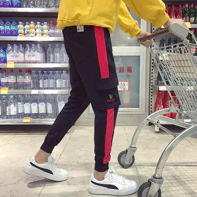 原967)916-K30-P45 已质检 2018春季新款运动裤长裤男 港风 M-5XL