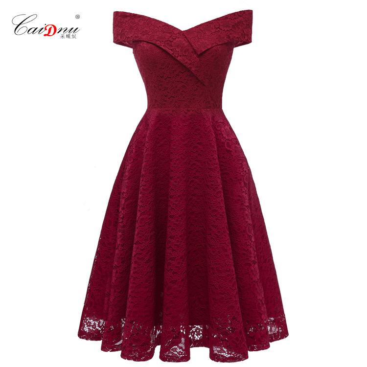 2018连衣裙女 women party dress lace wedding gown Bridesmaid