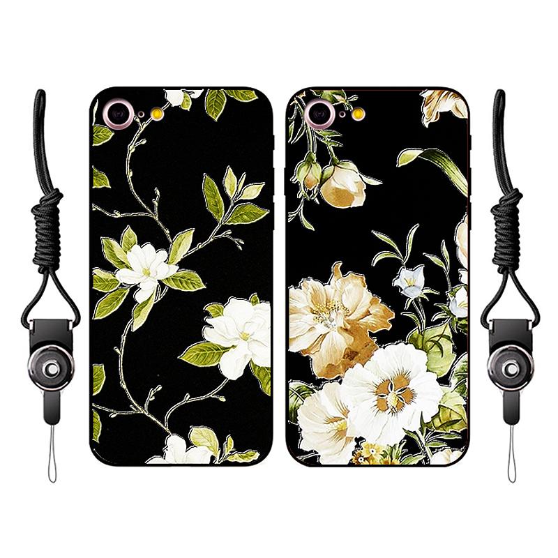 蘋果iphone7plus手機殼日韓 6s掛繩保護套軟矽膠7小清新女款6