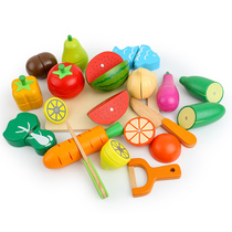 Cut Fruit Toys 1-2-3 years old puzzle boy girl baby children cut vegetables cutting music building quality early Education 6