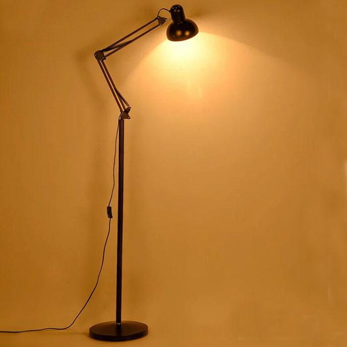 立式摺疊落地燈 美式鐵藝沙發過道智能卧室LED護眼遙控落地臺燈